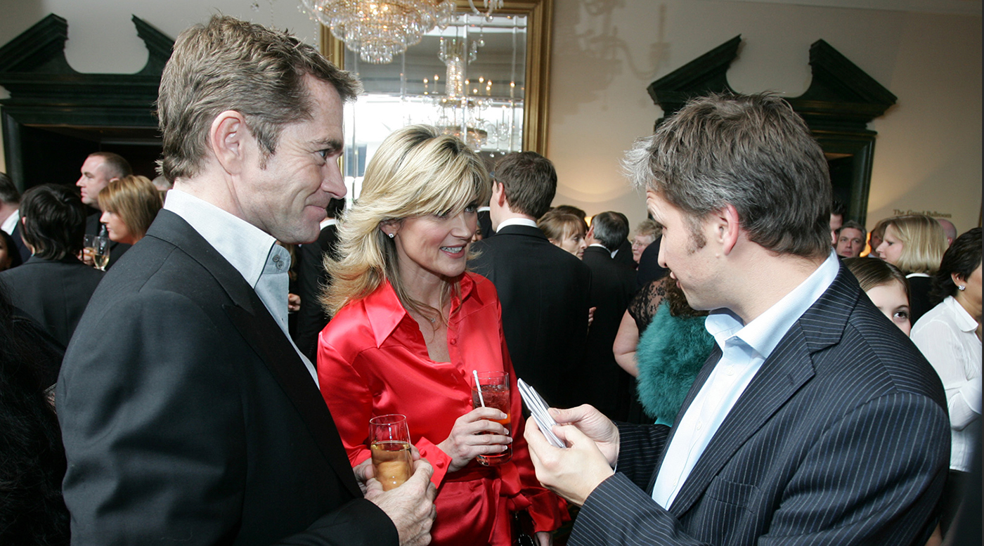 Corporate event magician Mark Cairns with Anthea Turner photo